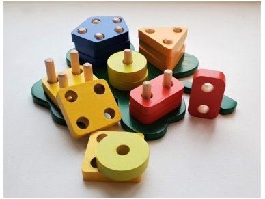 Figūrinės geometrinės kaladėlės ''Dobilas'' 2