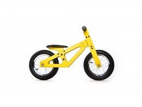 Geltonas balansinis dviratukas
