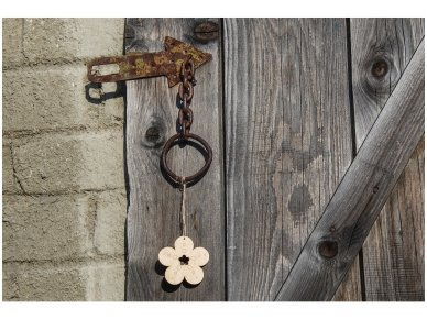 Wooden flower ornament 5