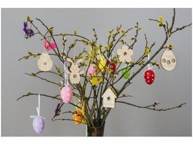 Wooden flower ornament 10