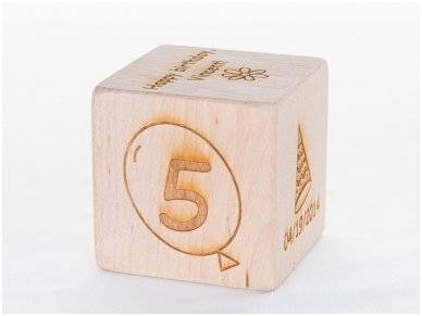 Personalized birthday block
