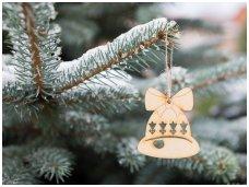 Kalėdinis žaisliukas varpelis