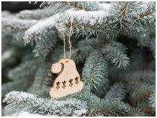 Kalėdinis žaisliukas nykštuko kepurytė