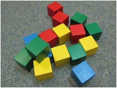 Medinės kvadratinės kaladėlės 5