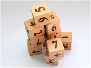 Blocks with numbers 7