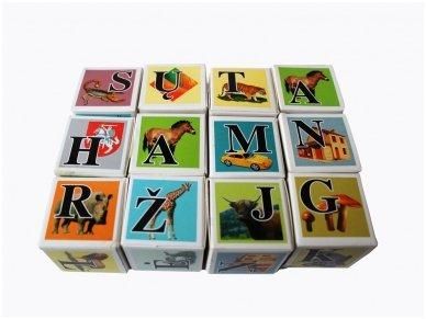 Kaladėlės su raidėmis