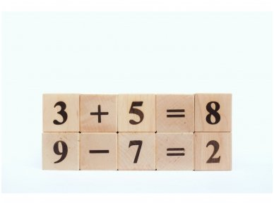 Blocks with numbers 2