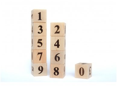 Blocks with numbers 3