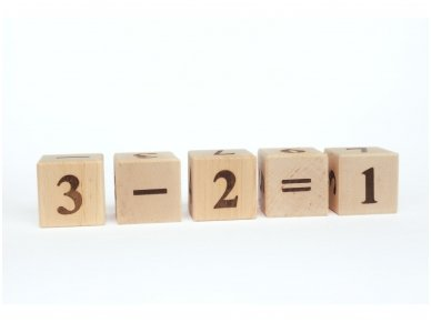 Blocks with numbers 4