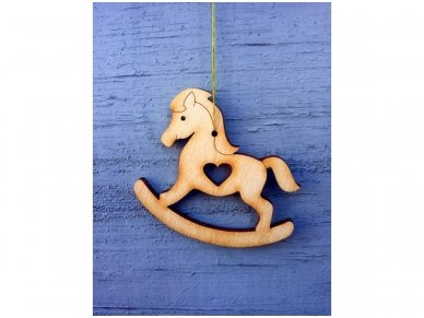 Kalėdinis žaisliukas arkliukas 4