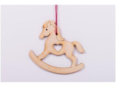 Kalėdinis žaisliukas arkliukas