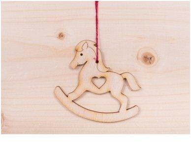 Kalėdinis žaisliukas arkliukas 2