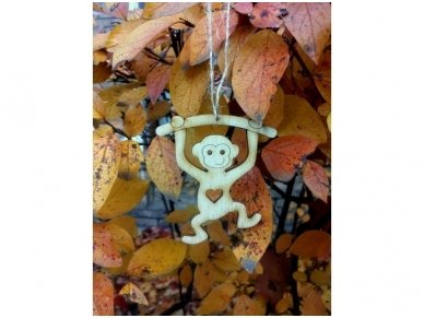 Kalėdinis žaisliukas beždžionėlė 5
