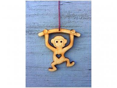 Kalėdinis žaisliukas beždžionėlė 6