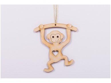 Kalėdinis žaisliukas beždžionėlė