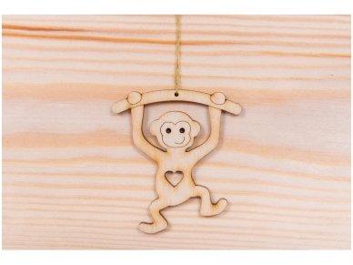 Kalėdinis žaisliukas beždžionėlė 2