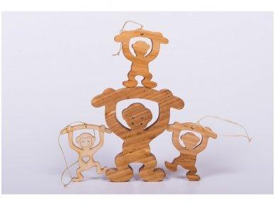 Kalėdinis žaisliukas beždžionėlė 4