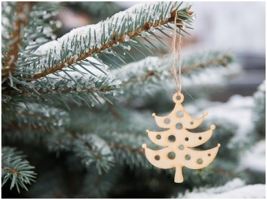 Kalėdinis žaisliukas Eglutė