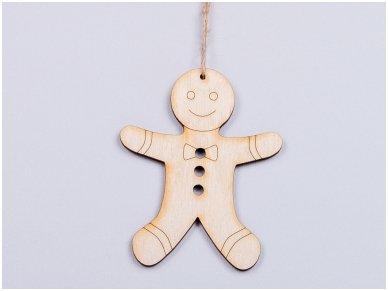 Kalėdinis žaisliukas imbierinis sausainis