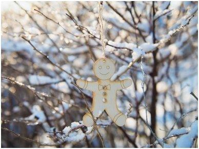 Kalėdinis žaisliukas imbierinis sausainis 4