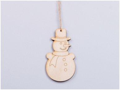 Kalėdinis žaisliukas sniego senis
