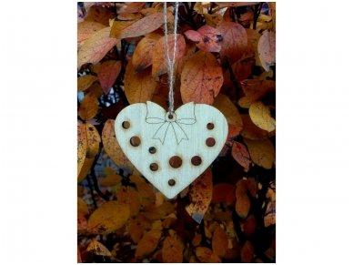 Kalėdinis žaisliukas širdelė 5