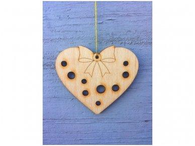 Kalėdinis žaisliukas širdelė 4