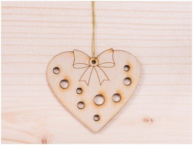 Kalėdinis žaisliukas širdelė 2