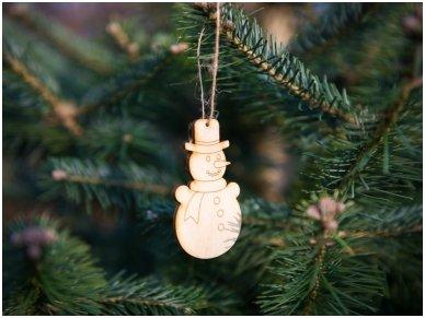Kalėdinis žaisliukas sniego senis 2