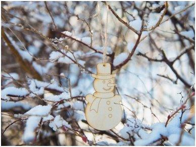 Kalėdinis žaisliukas sniego senis 3
