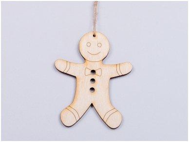 Kalėdinių medinių žaisliukų rinkinys 8