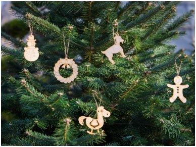 Kalėdinių medinių žaisliukų rinkinys 2