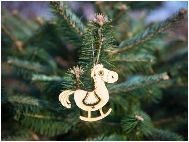 Kalėdinių medinių žaisliukų rinkinys 12