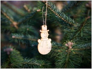 Kalėdinių medinių žaisliukų rinkinys 13