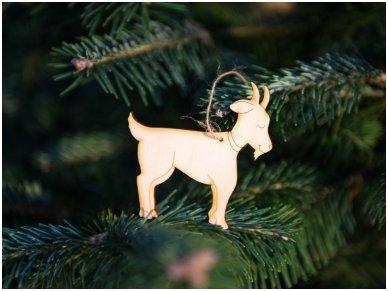 Kalėdinių medinių žaisliukų rinkinys 15