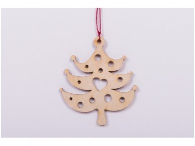 Wooden christmas decoration set 11