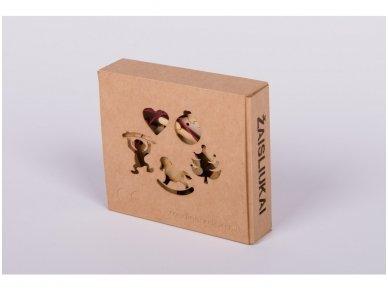 Kalėdinių medinių žaisliukų rinkinys 3