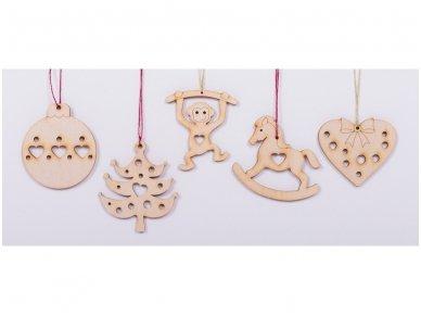 Kalėdinių medinių žaisliukų rinkinys 7