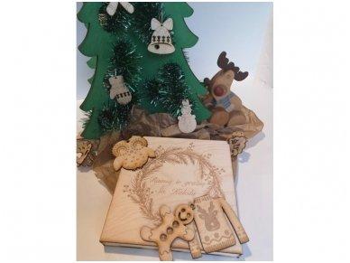 Kalėdinių žaisliukų rinkinys dėžutėje