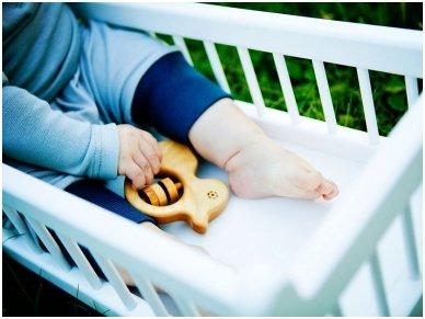 Organic wooden rattle teether 'Duckling' 5