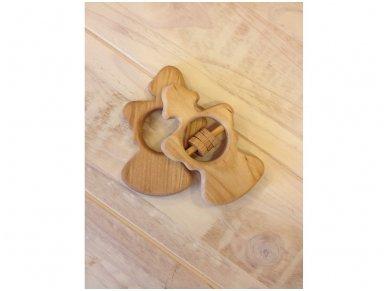 Organic wooden rattle teether 'Angel' 7