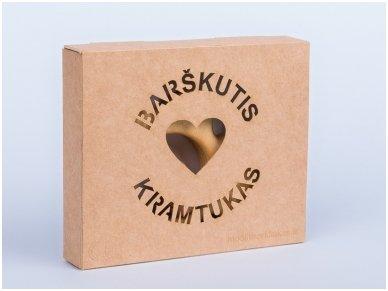 Organic wooden rattle teether 'Heart' 3