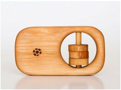 Organic wooden rattle teether 'Tasty'