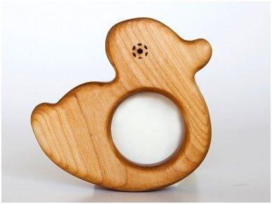 Organic wooden teether 'Duckling'