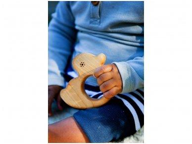 Organic wooden teether 'Duckling' 2