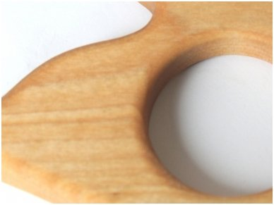 Organic wooden teether 'Duckling' 6