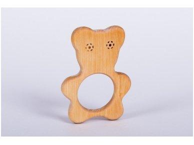 Organic wooden teether 'Teddy bear'