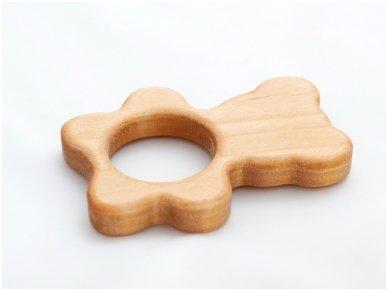 Organic wooden teether 'Teddy bear' 3