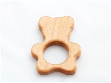 Organic wooden teether 'Teddy bear' 2