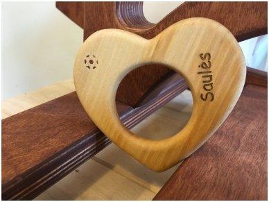 Organic wooden teether Heart 8